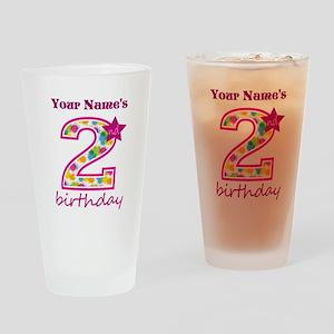 2nd Birthday Splat - Personalized Drinking Glass