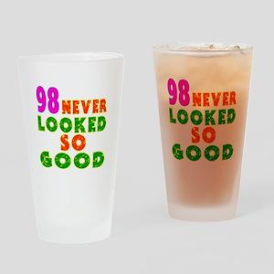 98 Birthday Designs Drinking Glass