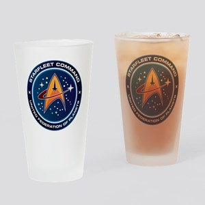 Star Trek Federation Of Planets Patch Drinking Gla