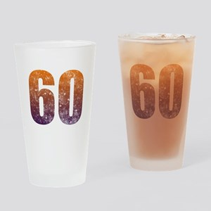 Cool 60th Birthday Drinking Glass