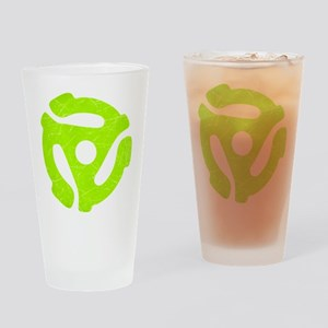 Lime Green Distressed 45 RPM Adapter Drinking Glas