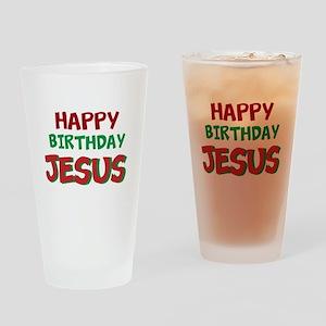 Happy Birthday Jesus Drinking Glass