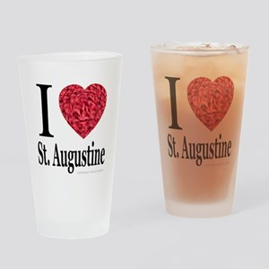 I Love St. Augustine Drinking Glass