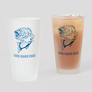Custom Blue Bass Drinking Glass