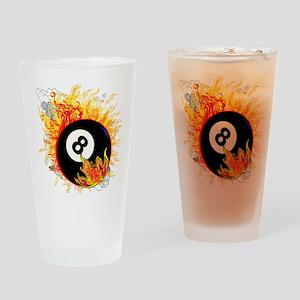 Fiery Eight Ball Drinking Glass