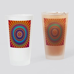 Fire and Ice mandala Drinking Glass