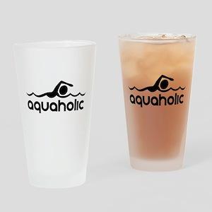 Aquaholic Drinking Glass