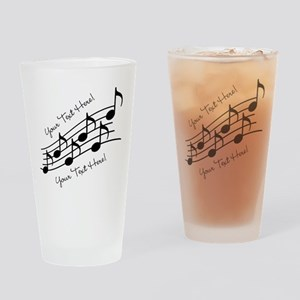 Music Notes PERSONALIZED Drinking Glass