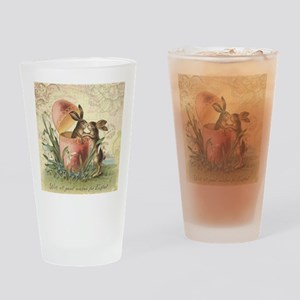 Vintage French Easter bunnies in egg Drinking Glas