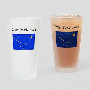Alaska State Flag (Distressed) Drinking Glass
