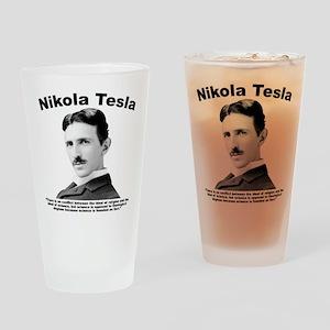 Tesla: Religion Drinking Glass