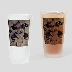 gothic grunge renaissance joker Drinking Glass
