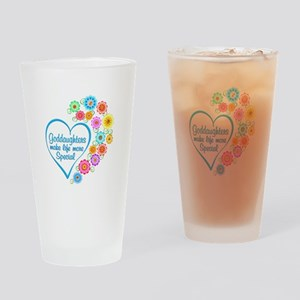 Goddaughter Special Heart Drinking Glass
