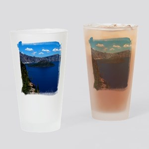 (16) Crater Lake  Wizard Island Drinking Glass