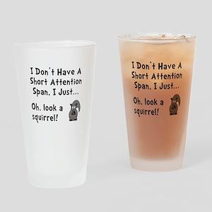Short Attention Drinking Glass