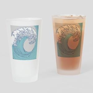 Japanese Wave Blue Beach Ocean Seas Drinking Glass