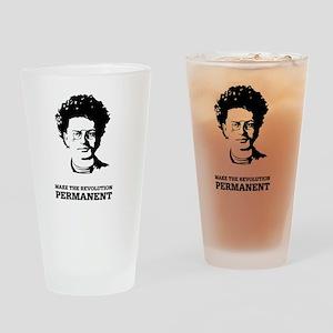 Leon Trotsky: Permanent Revolution Drinking Glass