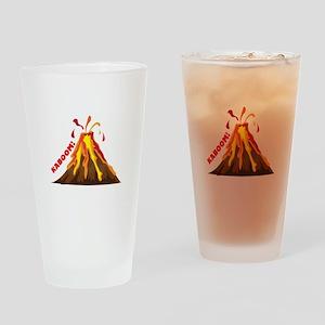Volcano Kaboom Drinking Glass