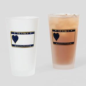 Alaska State License Plate Drinking Glass