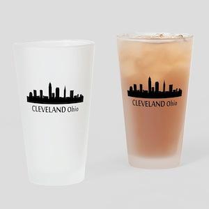 Cleveland Cityscape Skyline Drinking Glass
