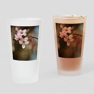 cherry blossom flowers Drinking Glass