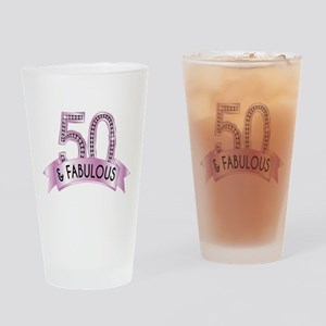 50 & Fabulous Diamonds Drinking Glass