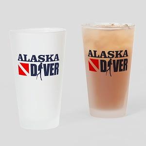 Alaska Diver Drinking Glass