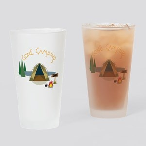 Gone Camping Drinking Glass