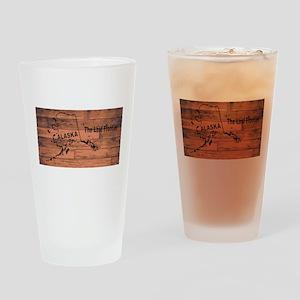 Alaska Map Brand Drinking Glass