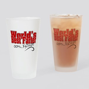 World's Best Farter (oops.. FATHER! Drinking Glass