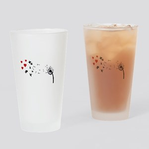 Dandelion Love Drinking Glass