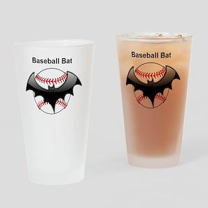 Halloween Baseball bat Drinking Glass