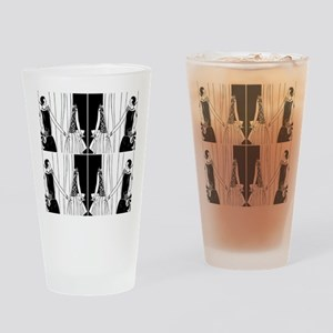1920s flapper 2 Drinking Glass