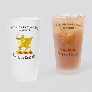 1st Bn 6th FA Drinking Glass