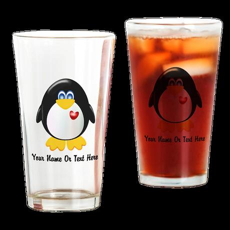 Customizable Penguin Drinking Glass
