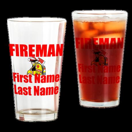 Fireman Drinking Glass