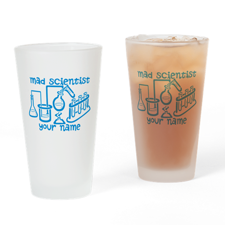 Personalized Mad Scientist Drinking Glass