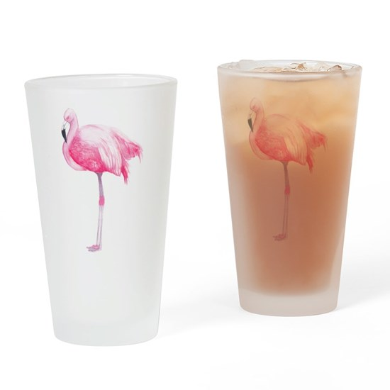 Cute pink flamingo watercolors