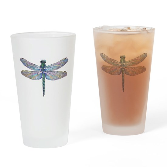 Dragonfly Drinking Glass By Mclaughlinwatercolor Cafepress