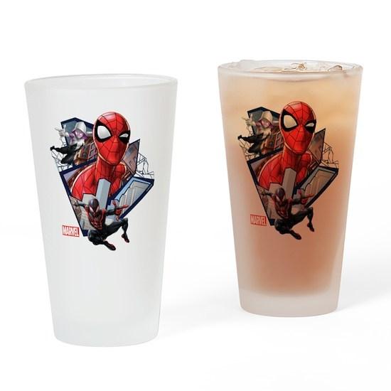 ce72bb9b504c Spider-Man Trio Drinking Glass by Marvel - CafePress