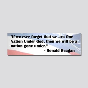 Reagan One Nation Under God Car Magnet 10 X 3