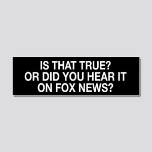Anti Fox News Car Magnet 10 x 3