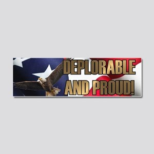 DEPLORABLE AND PROUD Car Magnet 10 x 3