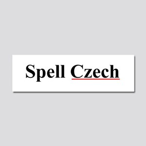Spell Czech Car Magnet 10 x 3