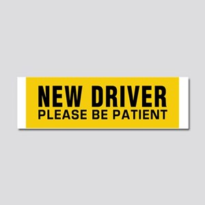 New Driver - Be Patient! Car Magnet 10 x 3