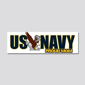 Navy Mom Car Magnet 10 x 3