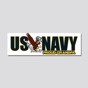 Navy Grandpa Car Magnet 10 x 3