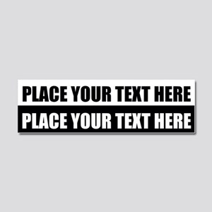 Text message Customized Car Magnet 10 x 3
