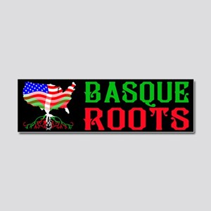 Basque American Roots Car Magnet 10 x 3