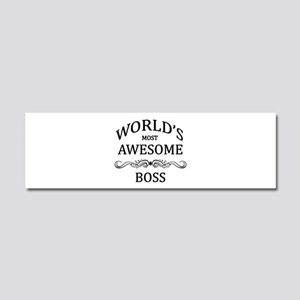 World's Most Awesome Boss Car Magnet 10 x 3